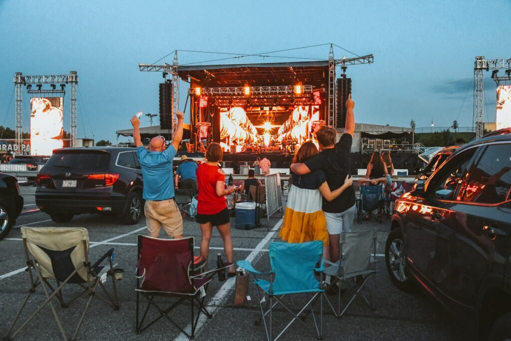 Drive in music concert